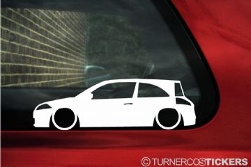 2x LOW Renault Megane sport 16v (Mk2) renault sport 225 outline stickers Silhouette Decals